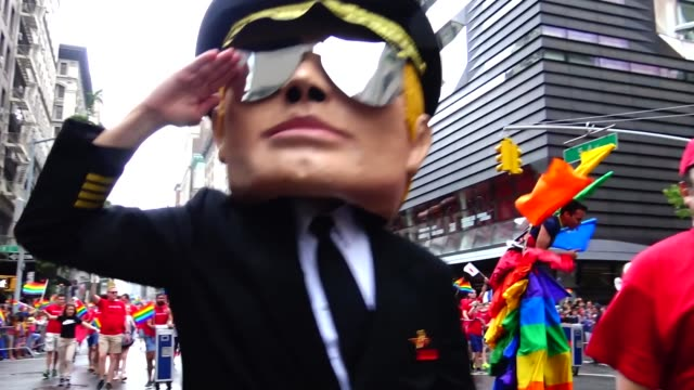 Delta Airlines promotes gay travel ad campaign / The Annual New York City Gay Pride Parade / The parade celebrates the Supreme Court decision to...