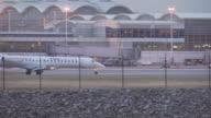 Delta Embraer 145 jet at Dulles Airport, USA
