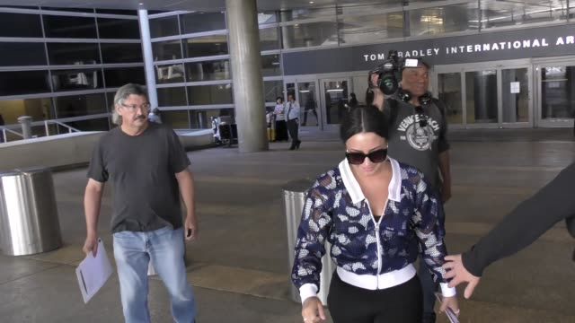 Demi Lovato arriving at LAX Airport in Los Angeles in Celebrity Sightings in Los Angeles