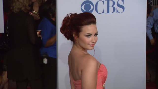 Demi Lovato at 2012 People's Choice Awards Arrivals on 1/11/12 in Los Angeles CA