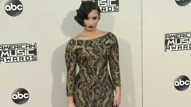 Demi Lovato at 2015 American Music Awards Arrivals in Los Angeles CA