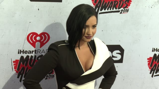 Demi Lovato at 2016 iHeartRadio Music Awards at The Forum on April 03 2016 in Inglewood California