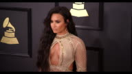Demi Lovato at 59th Annual Grammy Awards Arrivals at Staples Center on February 12 2017 in Los Angeles California 4K