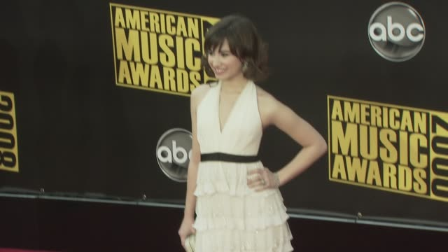 Demi Lovato at the 2008 American Music Awards at Los Angeles CA