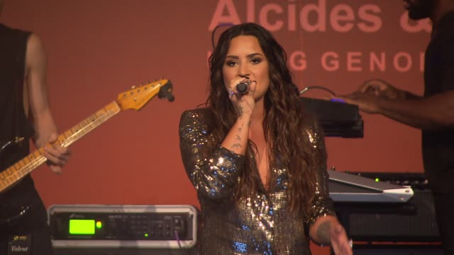 PERFORMANCE – Demi Lovato at The Alcides Rosaura Foundations' 'A Brazilian Night' at Cipriani 42nd Street on September 07 2017 in New York City