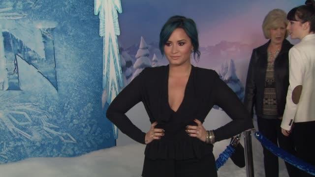 Demi Lovato at Walt Disney Animation Studios''Frozen' Los Angeles Premiere in Hollywood CA on