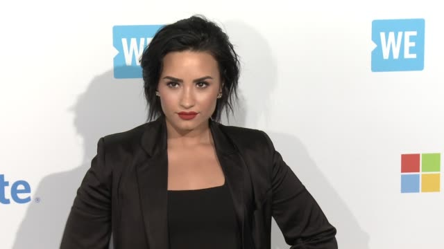 Demi Lovato at WE Day California at The Forum on April 07 2016 in Inglewood California