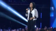 SPEECH Demi Lovato at WE Day California at The Forum on April 07 2016 in Inglewood California