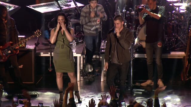 Demi Lovato Nick Jonas at Demi Lovato Nick Jonas Future Now The Tour Launch Party at Irving Plaza on October 26 2015 in New York City