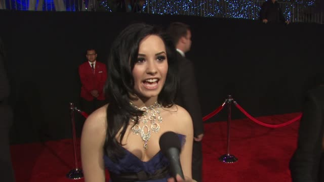 Demi Lovato on being nominated for a People's Choice Award at the 36th Annual People's Choice Awards at Los Angeles CA