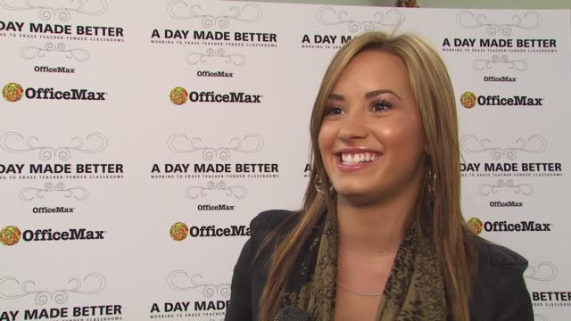 Demi Lovato on surprising the students with a performance at the Demi Lovato Joins 'A Day Made Better' School Advocacy Campaign Los Angeles at Los...