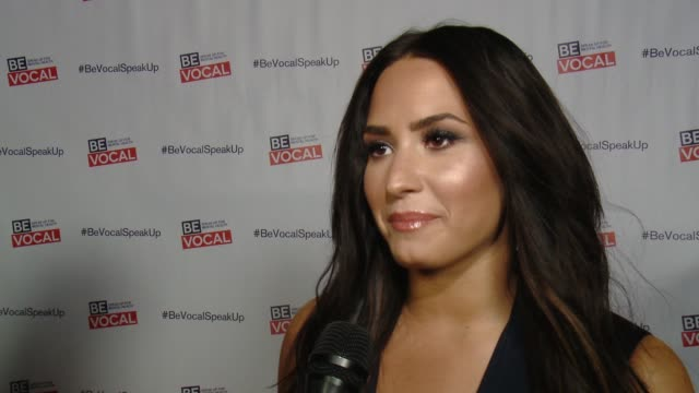 Demi Lovato on what she is here for tonight what Beyond Silence is about and why she decided to serve as executive producer on the film at ArcLight...
