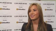 Demi Lovato on why this is such a special campaign at the Demi Lovato Joins 'A Day Made Better' School Advocacy Campaign Los Angeles at Los Angeles CA