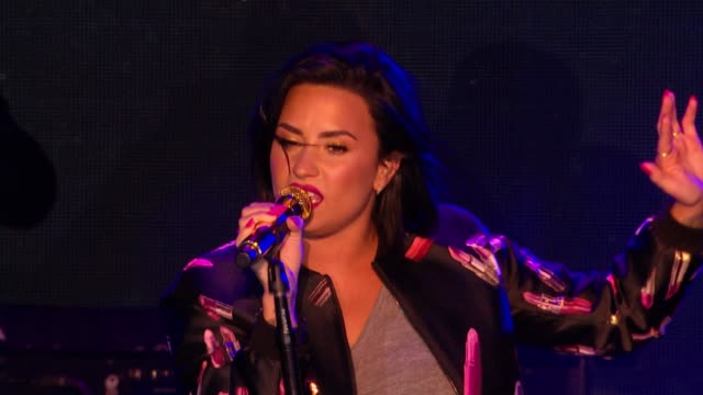 PERFORMANCE Demi Lovato onstage at AOL NewFronts 2016 at Seaport District NYC on May 03 2016 in New York City