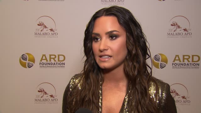INTERVIEW – Demi Lovato shares why she supports this gala at The Alcides Rosaura Foundations' 'A Brazilian Night' at Cipriani 42nd Street on...