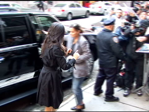 Demi Moore at Good Morning America in New York at the Celebrity Sightings in New York at New York NY
