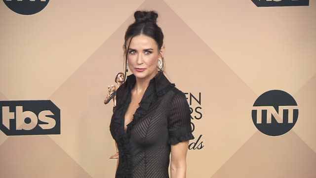 Demi Moore at the 22nd Annual Screen Actors Guild Awards Press Room at The Shrine Auditorium on January 30 2016 in Los Angeles California