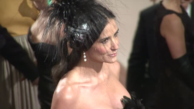 Demi Moore at the 'Alexander McQueen Savage Beauty' Costume Institute Gala At The Metropolitan Museum Of Art at New York NY
