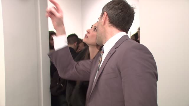 Demi Moore at the Joseph La Piana's 'Kinetic State' Art Exhibition Opening at the Robert Miller Gallery in New York New York on March 27 2008