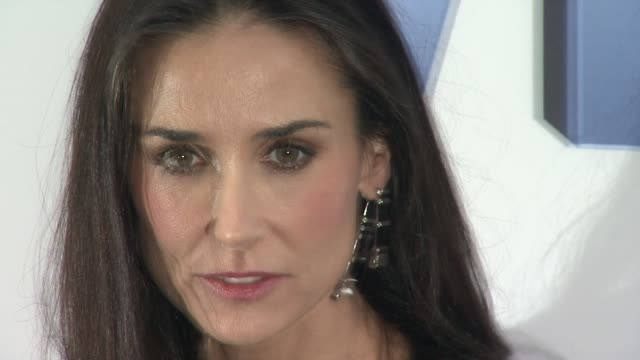 Demi Moore at the 'Premiere Of Lifetime's Five From Jennifer Aniston Demi Moore Alicia Keys' at New York NY