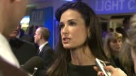 Demi Moore being interviewed at the Flawless UK Charity Premiere at London