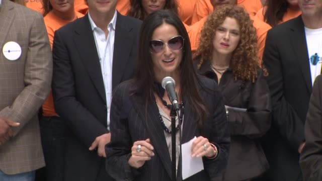 Demi Moore on not expecting to participate at the Entertainment Industry Foundation Announces Two Major Volunteer Initiatives at New York NY
