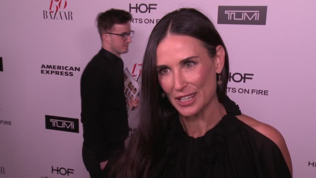 INTERVIEW Demi Moore on what it means to be honored as one of the most fashionable women in the world and  what being fashionable/stylish means to...