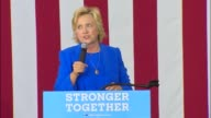Democratic Party presidential candidate Hillary Clinton tells a rally in Charlotte North Carolina that Ronald Reagan would not attack America's...