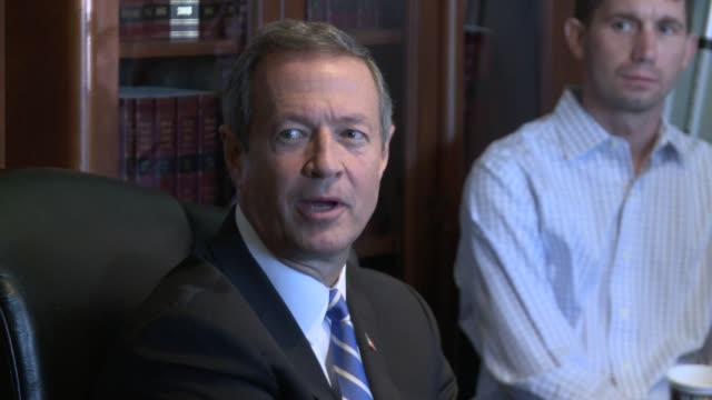 Democratic presidential candidate Martin O'Malley attends a 'listening session' with leader of the legal marijuana industry