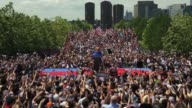"Democratic US presidential hopeful and former US Secretary of State Hillary Clinton says ""I'm running for president of the United States"" during her..."