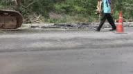 Demolition asphalt.