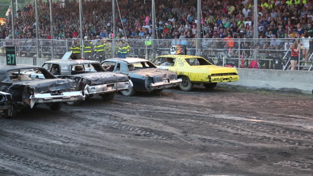 Demolition derby at the Delaware County Fair