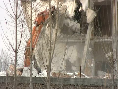 Demolition of the compound where Osama Bin Laden was found in May 2011