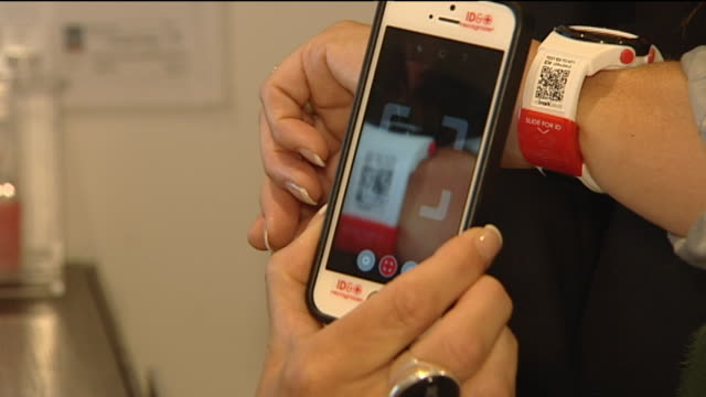 Demonstration of modified watch 'Mimark Recognizer' which is embedded with QR code which gives the medical information of the wearer when scanned