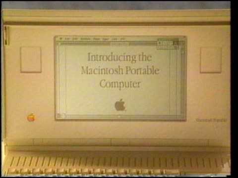 A demonstration of the Macintosh Portable Computer