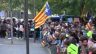 Demonstrators hit the streets of Barcelona for a third day of protests against the Spanish authorities crackdown on preparations for a banned...
