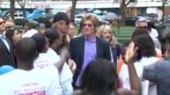 Denis Leary Rhys Ifans Andrew Garfield Emma Stone Marc Webb at 'Be Amazing' Stand Up Volunteer Initiative Brooklyn at Madison Boys And Girls Club on...