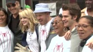 Denis Leary Rhys Ifans Emma Stone Marc Webb and Andrew Garfield at 'Be Amazing' Stand Up Volunteer Initiative Brooklyn at Madison Boys And Girls Club...