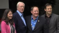 Denise Ream Michael Caine John Lasseter and Jason Issacs at the Cars 2 UK Premiere at London England