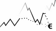 POSITIVE/CONSTANT TREND CHART- dense, euro icon, pure black dots (LOOP)