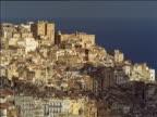Densely built up area of old city on hillside Casbah