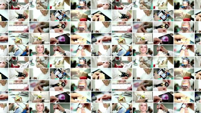 Dental prosthetic. Video Wall.