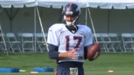 Denver Broncos backup quarterback Brock Osweiler practicing at training camp at the team's practice facility in Dove Valley Osweiler is entering his...