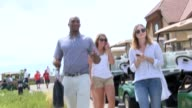 Denver Broncos cornerback Aqib Talib appeared at TJ Ward's golf tournament in Aurora Colorado and declined an interview with telvision reporters but...