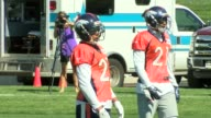 Denver Broncos cornerback Aqib Talib returned to the practice field for training camp after missing the first two weeks because of a gunshot wound he...