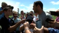 Denver Broncos quarterback Mark Sanchez spoke to the media in a press conference after practice about not earning starting job