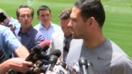 Denver Broncos quarterback Mark Sanchez was interviewed after the first official OTA practice The veteran quarterback talked about his excitement...