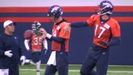 Denver Broncos quarterback Peyton Manning returns to first full practice as backup at the Pat Bowlen Field House Thursday Brock Osweiler is still the...