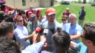 Denver Broncos rookie quarterback Paxton Lynch was interviewed after his first official OTA practice and talked about the speed of the game his first...