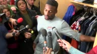 Denver Broncos wide receiver Emmanuel Sanders talks about the team's status after the first loss of the season at Indianapolis and the future of the...